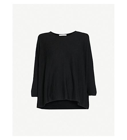 MAJE Hippon silk-blend jumper (Black