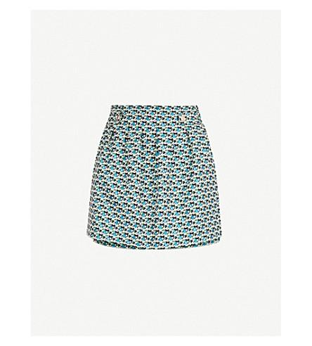 MAJE Iden floral-pattern jacquard shorts (Multi-coloured