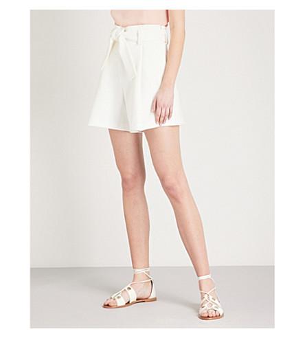 MAJE Crepe tailored shorts (White