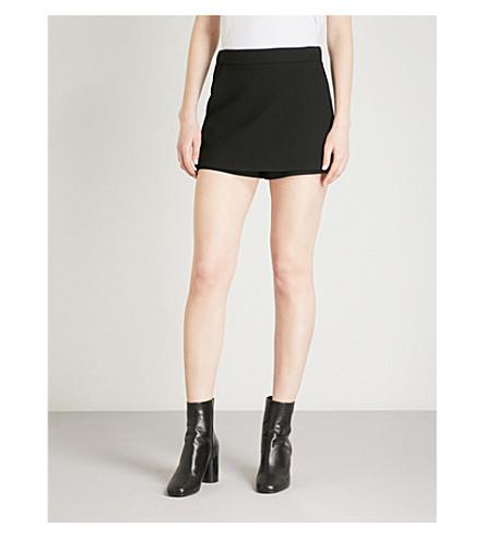 MAJE Skirt overlay woven shorts (Black