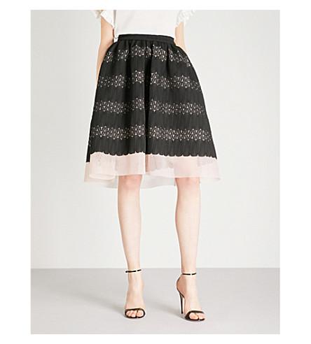 MAJE Jarod neoprene skirt (Black
