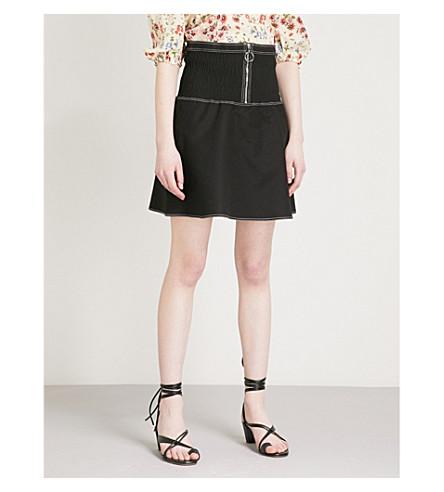 MAJE Jelera stretch-cotton skirt (Black