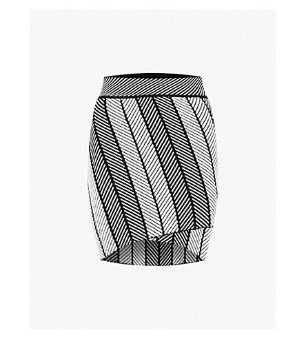 MAJE Jessy woven mini skirt (Multi-coloured