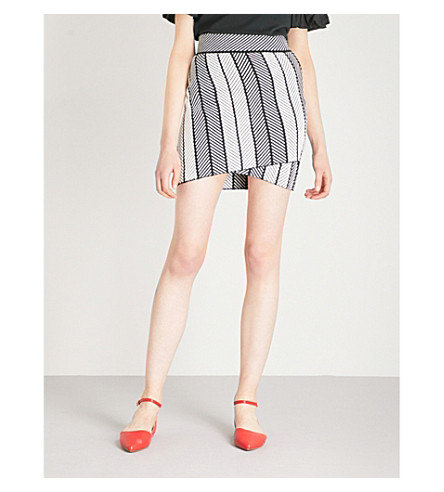 MAJE Jessy woven mini skirt (Multi-coloured