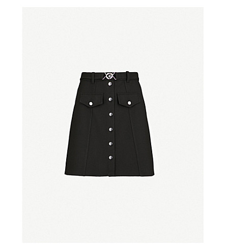 MAJE Jibrali crepe skirt (Black