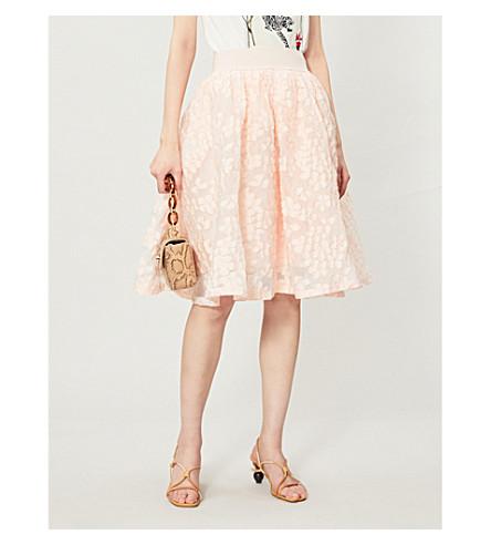 MAJE Joshua devoré skirt (Pink
