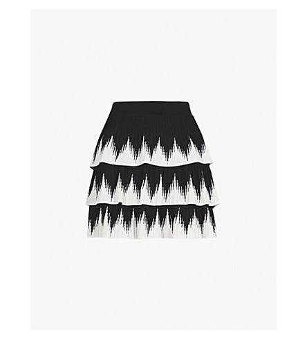MAJE Julia knitted skirt (Black