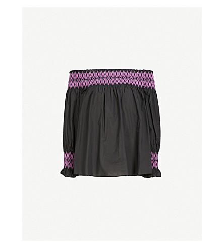 MAJE Lafour cotton top (Black
