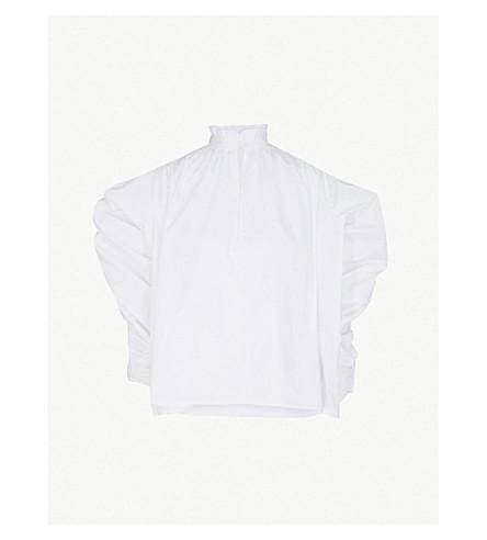 MAJE Lamier 棉府绸衬衫 (白色