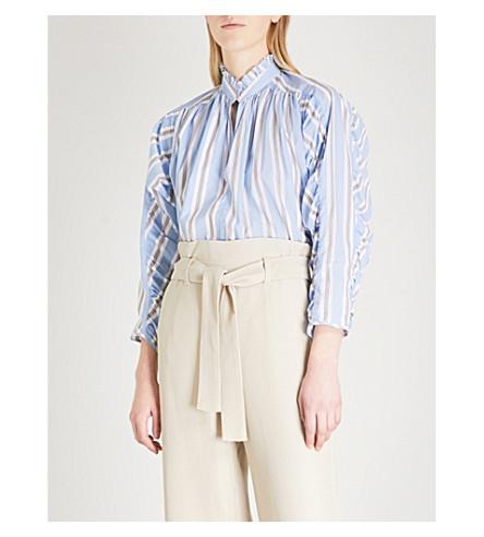 MAJE Lavia oversized striped cotton shirt (Multi-coloured