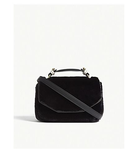 MAJE Faux-fur shoulder bag (Black