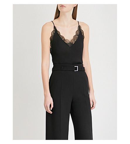 MAJE Leaton crepe camisole (Black