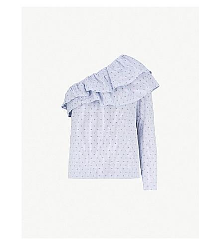 MAJE Lelina striped cotton top (Blue