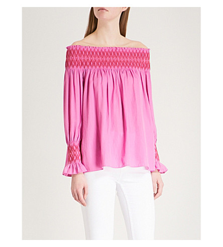 MAJE Lofaur cotton top (Pink