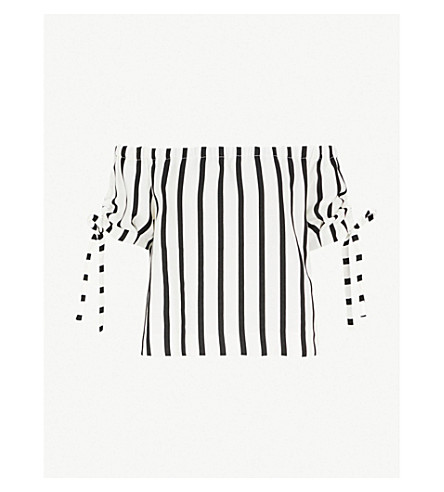 MAJE Lonson striped woven top (Stripe