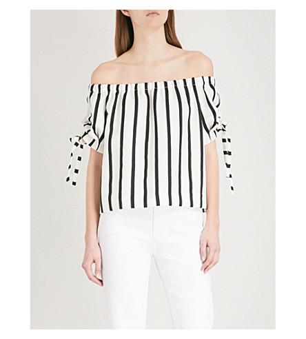 MAJE Lonson striped woven top (Stripe