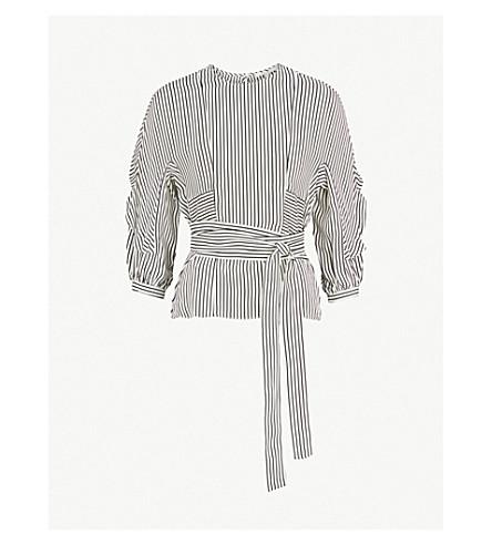 MAJE Loxy striped cotton top (Stripe