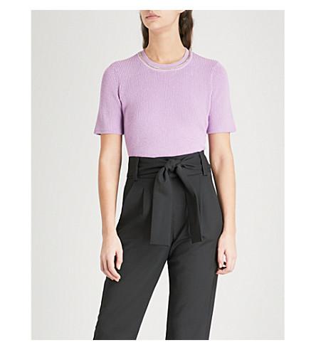MAJE Magrite chain-embellished cotton jumper (Purple