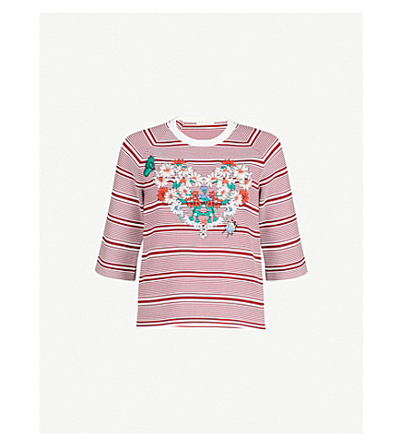 MAJE Striped knitted top (Multi-coloured