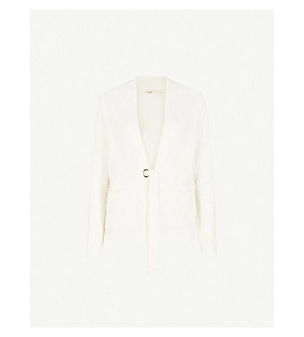 MAJE Mariani wool and cashmere-blend cardigan (Cream