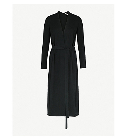 MAJE Marina wool and cashmere-blend cardigan (Black