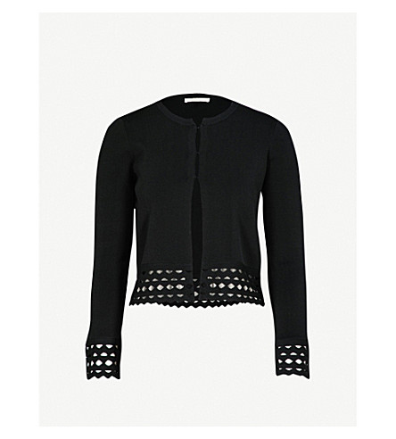 MAJE Marseille cutout-detail knitted cardigan (Black+210