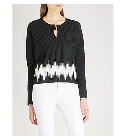 MAJE Martha knitted jumper (Black