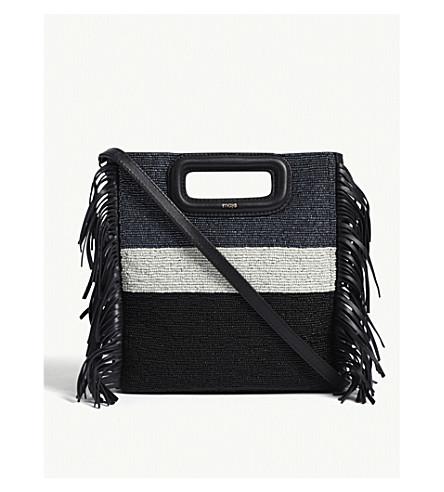 MAJE 'M' bead block leather shoulder bag (Blue