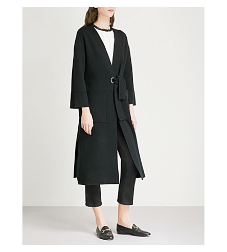 MAJE Methe knitted cardigan (Black