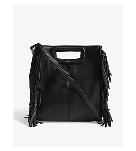 MAJE M leather shoulder bag (Black