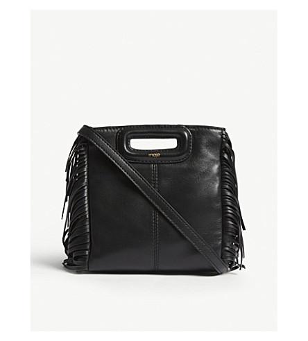 MAJE M Mini Leac leather shoulder bag (Black