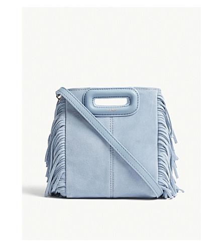 Azul M MAJE Mini de ante bolso cruzado YCgCdqw