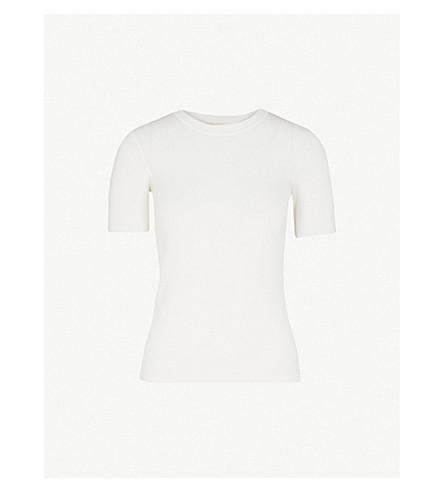 MAJE Leger knitted T-shirt (Ecru