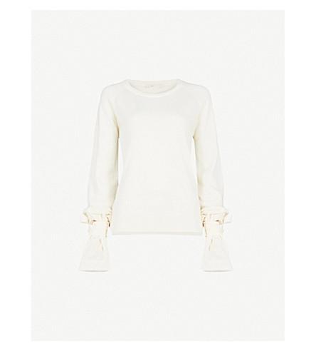 MAJE Mory wool-blend jumper (Cream