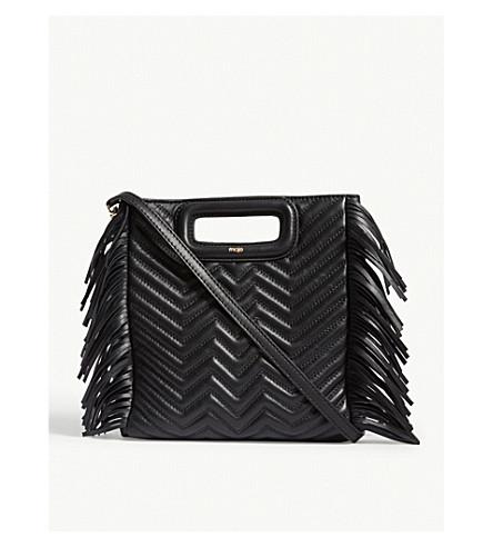 MAJE M quilted leather handbag (Black