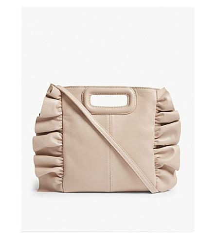 MAJE M ruffles leather handbag (Nude