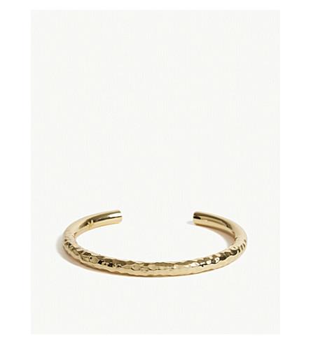 MAJE Semainier textured cuff bracelet (Gold