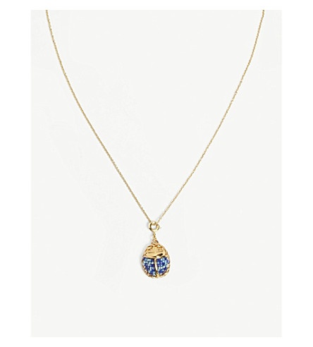 MAJE Beetle necklace (Gold