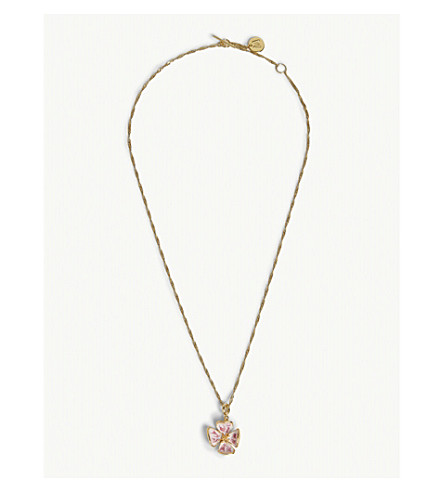 MAJE Floral necklace (Gold