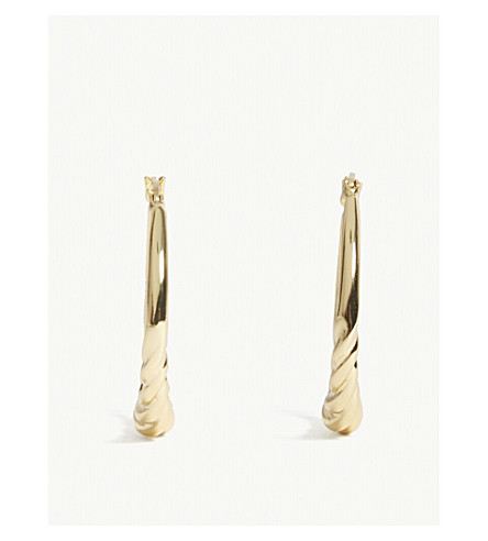 MAJE Neka twisted hoop earrings (Gold