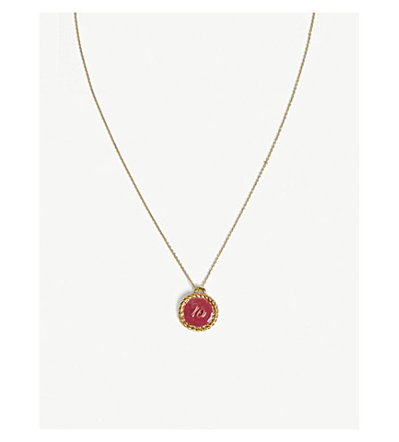 MAJE Number 10 medallion necklace (Gold