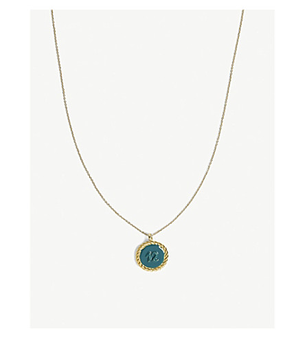 MAJE Number 12 medallion necklace (Gold