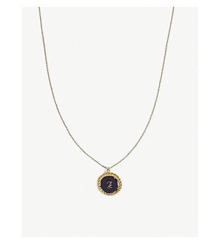 MAJE Number 2 medallion necklace (Gold
