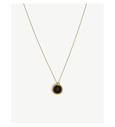 MAJE Number 4 Medallion necklace (Gold
