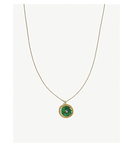 MAJE Number 5 medallion necklace (Gold