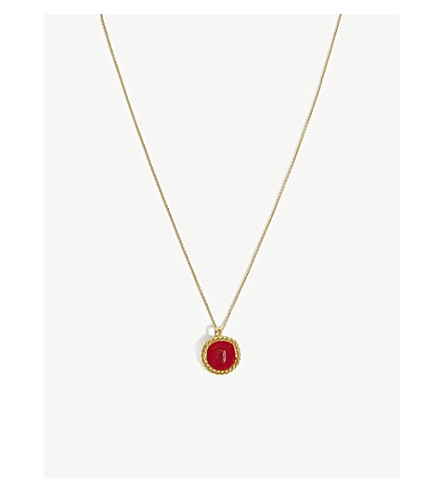 MAJE Number 7 Medallion necklace (Gold