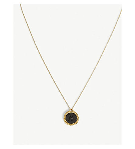 MAJE Number 8 medallion necklace (Gold