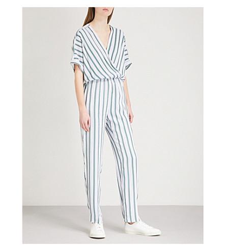 MAJE Pandro striped twill jumpsuit (Stripe