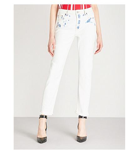 de blancos Paoline gran altura Jeans rectos MAJE 0xwqZfz0