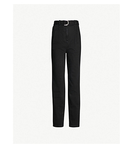 MAJE Parisso skinny high-rise jeans (Black+210